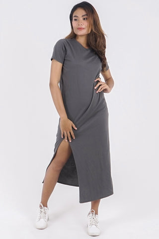 Actually Everyday Dress - Grey Olive