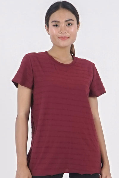 Base-ic Tee - Dark Cherry