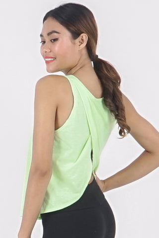 Boss Crop Tank - Citron