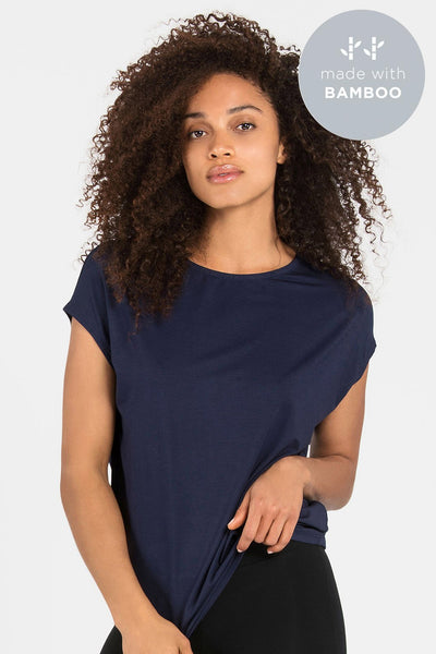 Bamboo Luxe Layer Top - Navy