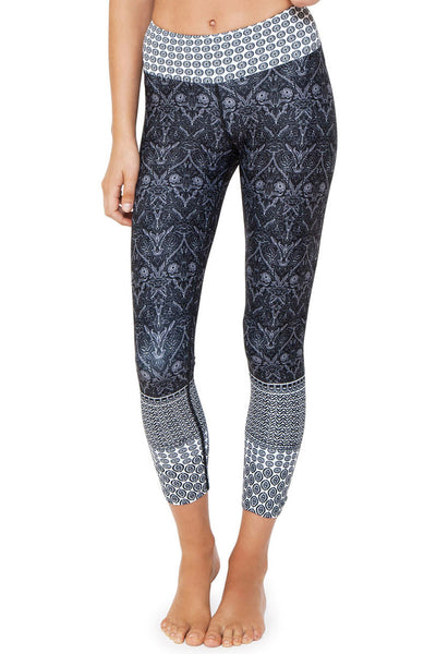Black Free Spirit High Waisted 7/8 Length Legging