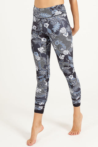 Botanic Black High Waisted 7/8 Length Legging