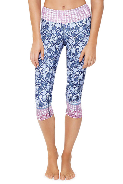 Free Spirit High Waist Printed Legging - Crop