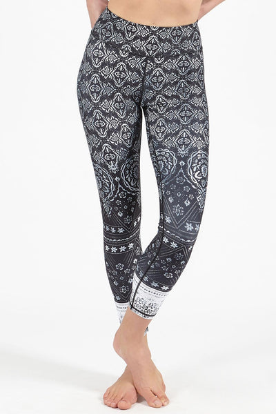Shanti Black High Waisted 7/8 Length Legging