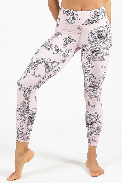 Tea Rose High Waisted 7/8 Length Legging