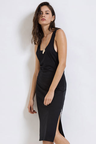 Ace Midi Tank Dress - Black