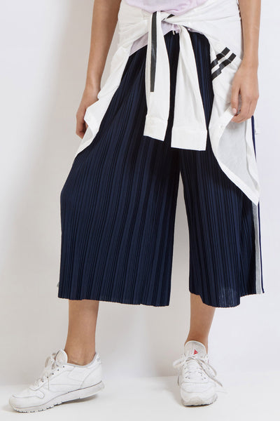 Fast Break Cropped Pleated Pant - Midnight