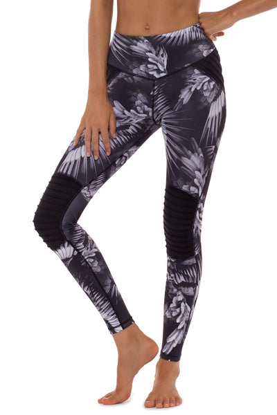 Ruffled Feathers Moto Full Length Legging