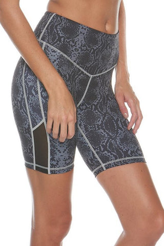 Beginning of Time Bike Short - Grey + Black