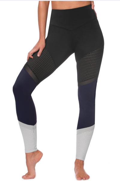 Time And Space Legging - Black/Navy/Grey