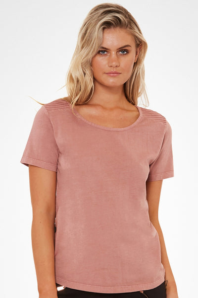 With The Crew Tee - Dusty Rose