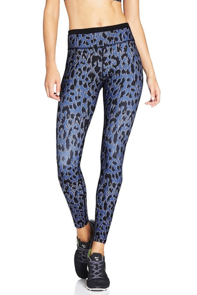 Lauren 7/8 Tights - Abstract Leopard