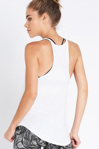 Sporty Bind Tank - White