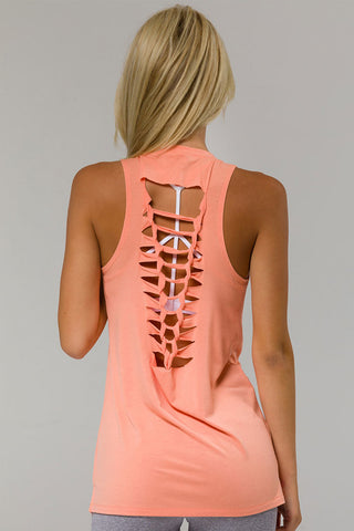 Braid Tank - Peach Pink