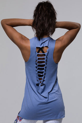 Braid Tank - Slate Blue