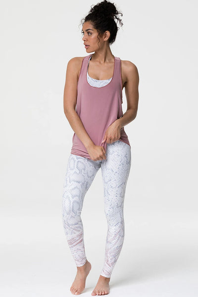 Glossy Flow Tank Top - Rosy