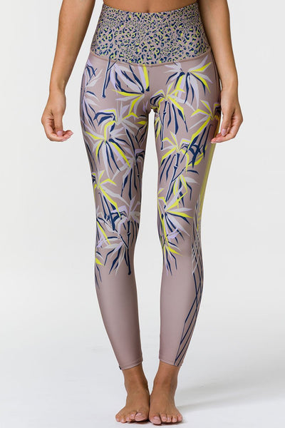 Graphic High Rise Midi Legging - Origami