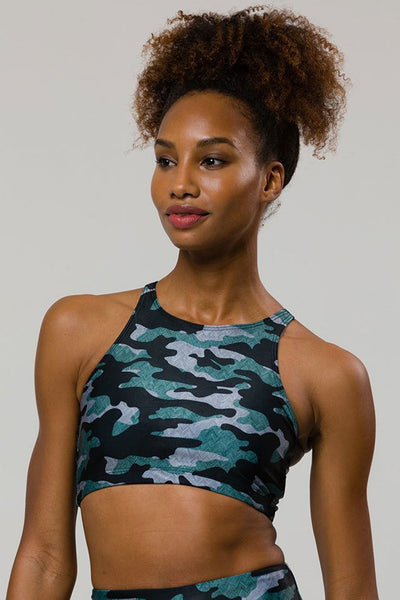 Heart Bra - Distressed Camo