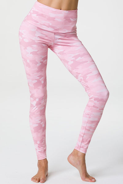 High Rise Legging - Blush Camo