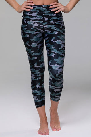 High Basic Midi Legging - Distressed Camo