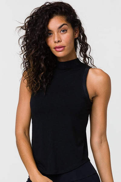 Pulse Rib Tank Top - Black