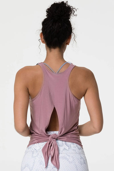 Tie Back Tank Top - Rosy