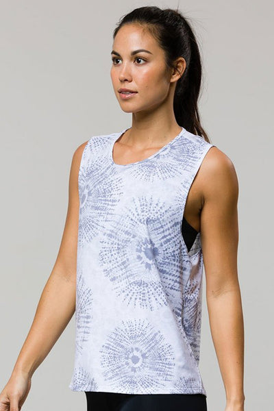 Twist Back Top - Gray Shibori