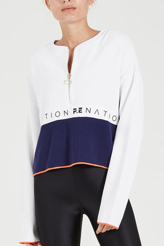 Balance Long Sleeve Top - White