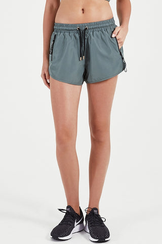 Double Drive Short In Khaki