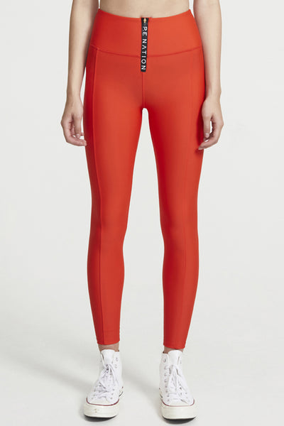 Straight Fire Legging - Red