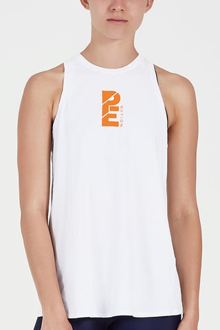 Tryout Tank - White/Orange