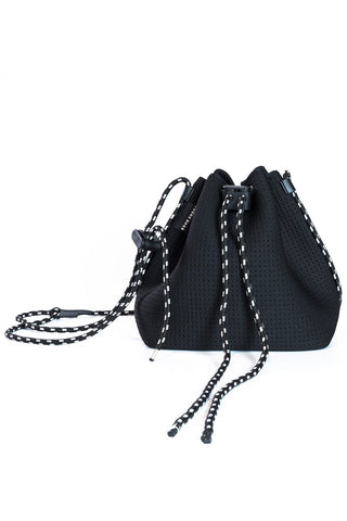 Billie Neoprene Bucket Bag - Black