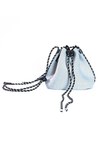 Billie Neoprene Bucket Bag - Light Grey Marle