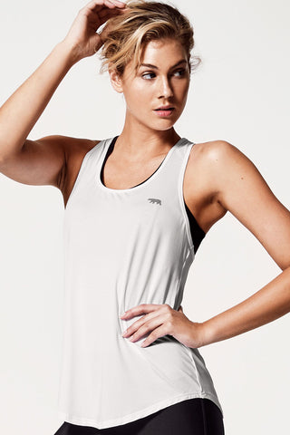 Back To Bare Tank - White