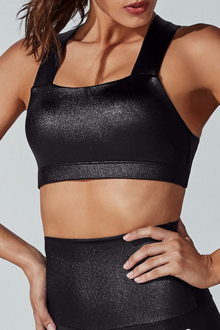 Crystal Perfect Form Sports Bra - Black