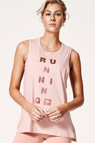 Guns Out Muscle Tank - Blush Crush