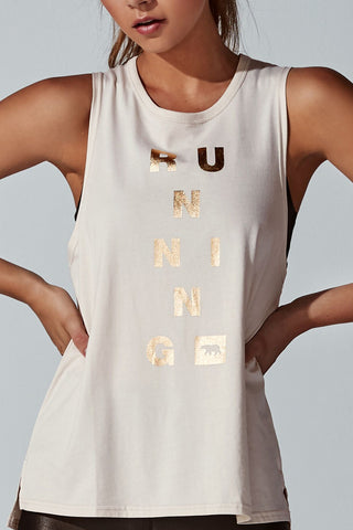 Guns Out Muscle Tank – Champagne