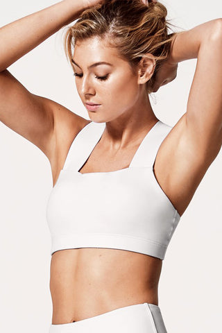 Perfect Form Crop Top - White
