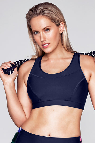 Stop Traffic Crop Top - Indigo