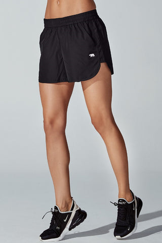 Track Star Running Short - Black