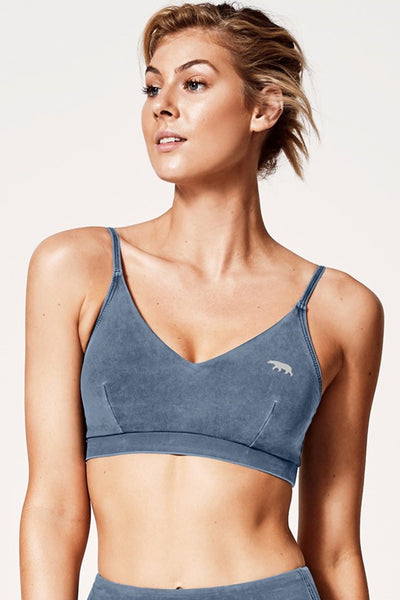 Wild West Sports Bra - Double Denim