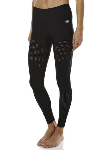 HR Full Length Tight (Set the Standard) - Black/Perf