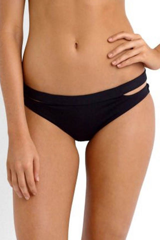 Active Split Band Hipster Bikini Pant - Black