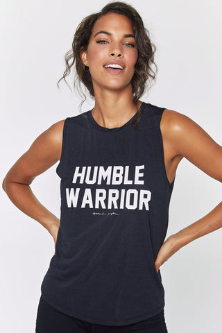 Humble Warrior Active Muscle Tank - Black
