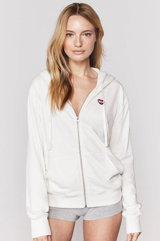 Choose Riley Zip Hoodie - Cream