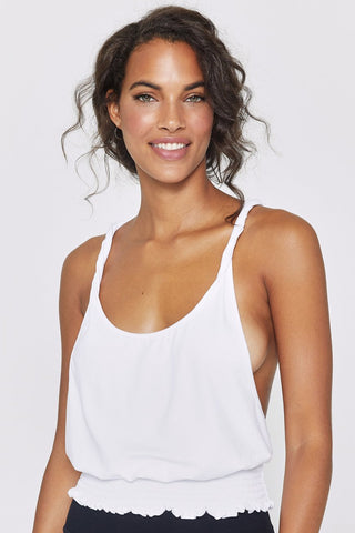 Dream On Twist Tank - White