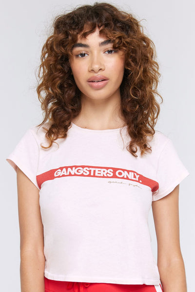 Gangsters Only Vintage Crew Tee - White