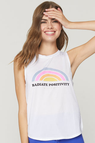 Radiate Active Muscle Tank – White