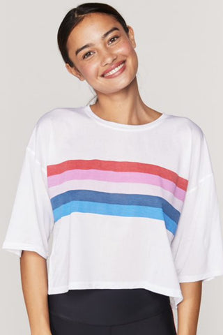 Rainbow Active Sessions Tee - White