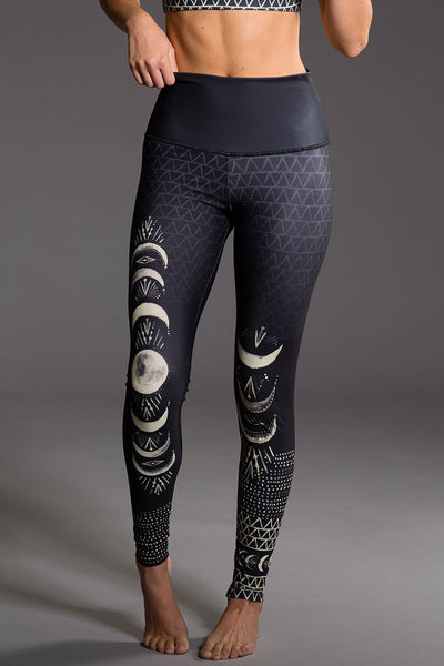 High Rise Graphic Full Length Legging - Las Lunas